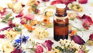 Aromatic herbal oil, dried flowers