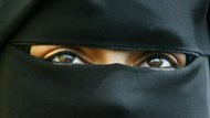 Woman wearing a burqa