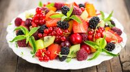 Fresh fruit salad on the plate