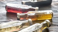 Bottles with different kinds of vinegar