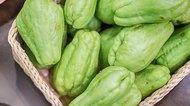 Fresh natural and organic of chayote fruits