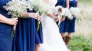 Bridesmaids and bride at a wedding