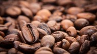 Roasted coffee beans background concept
