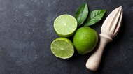 Limes and juicer