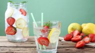 detox water drink strawberry and lemon