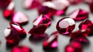 rubies close up
