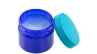 Blue green jar of  mentholated topical ointment