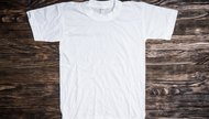 white clean cotton t-shirt