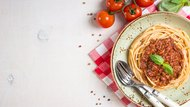 Pasta bolognese background