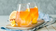 Orange Italian soda in glasses