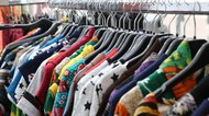 vintage clothes for sale at flea market