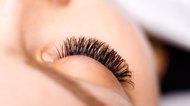 Long, curly eyelashes