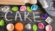 Word Cake Written in Chalk