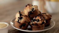 Non-Mixer Blueberry Muffins