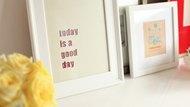 Inspirational Quote Glitter Art
