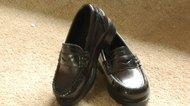 black Penney loafer shoes