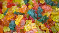 Gummy bear sweets background
