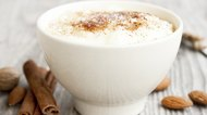 Rice pudding with cinnamon powder