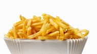 Close-up of a carton of french-fries