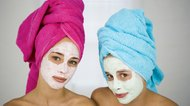 Girls with facial masks