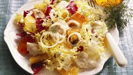 Colorful Salad with poached Fish