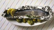 Trout in foil with herb potatoes
