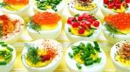 Deviled eggs background
