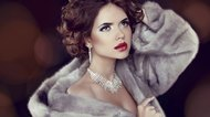 Beauty Fashion Model Woman in Mink Fur Coat. Winter Girl