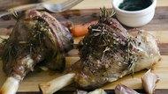 Roast legs of lamb