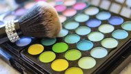 Makeup brush and colors