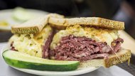 Reuben Sandwhich with Pickle