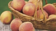 Peaches in basket