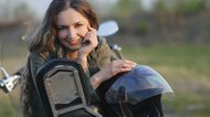 girl on a motorbike
