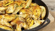 Roasted chicken thighs with Rosemary