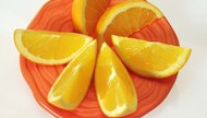 Orange slices on plate