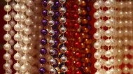 Multicolored plastic pearls