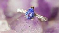 Beautiful luxury ring on Ametyst