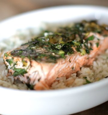 Ina's Simple Herbed Salmon