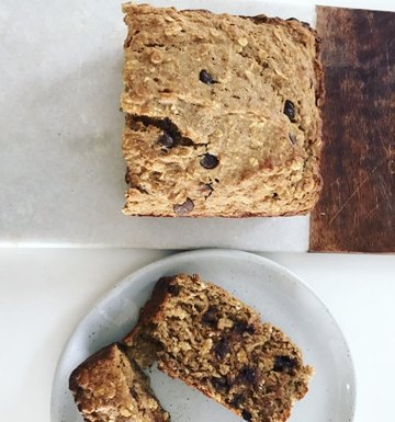 Wholesome Chocolate Chip Banana Bread