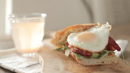 Spicy Avocado Breakfast Sandwich