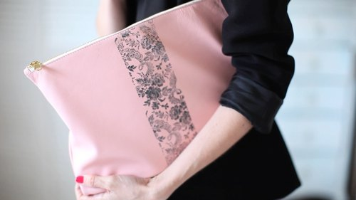 DIY Lace Print Clutch