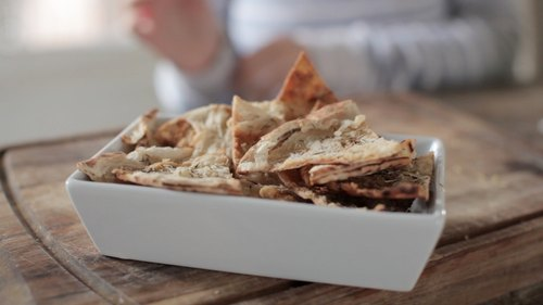 Rosemary & Honey Pita Chips
