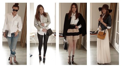White Button-Up 4 Ways