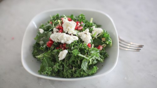 Kale, Brussels & Pomegranate Salad