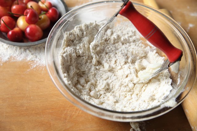 Blending butter and flour for pie crust