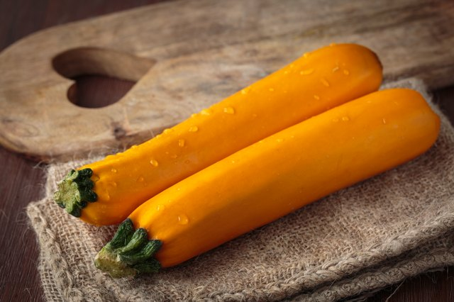 Fresh raw yellow zucchini