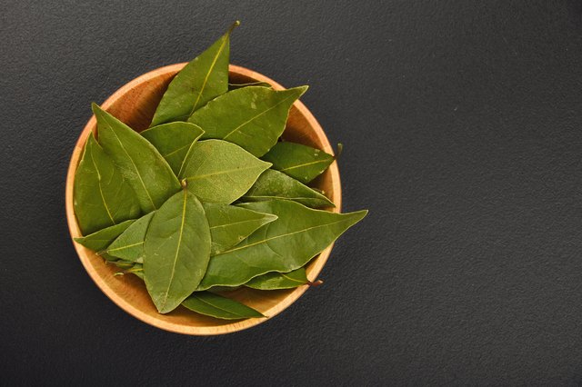 Bowl of bay leaves
