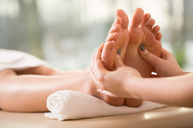 Close-up of reflexology