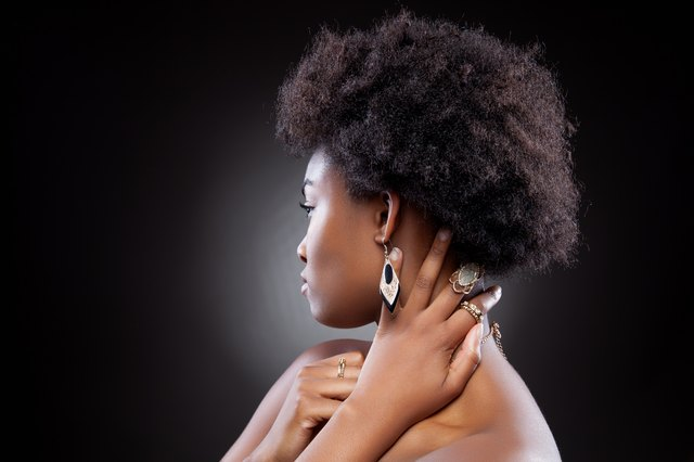 Beautiful African American Woman Hair Style