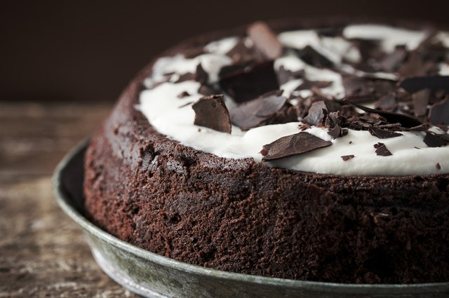 Mississippi Mud pie with cream on top